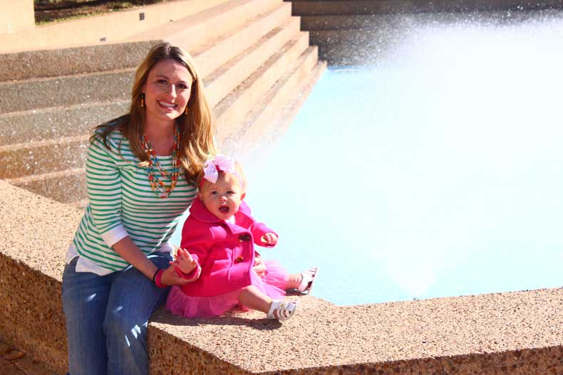 Parenthood and Passports - Fort Worth Water Gardens